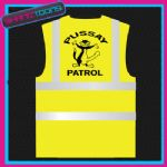 PUSSAY PATROL MENS STAG PARTY DO FUNNY SLOGAN HI VIZ VEST ADULTS SIZES